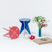 stfurniture blue stool