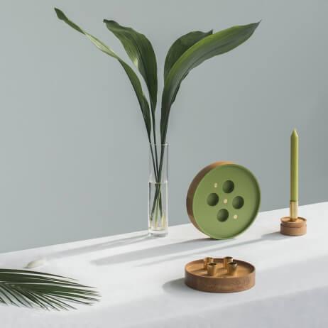 Świecznik Enlightenment Zielony